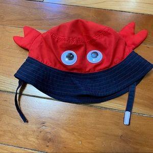 Jumping Beans crab sun hat